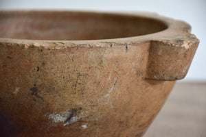 Vintage French mortar and pestle - terracotta