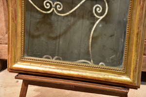 Large antique French Louis Philippe mirror with giltwood frame