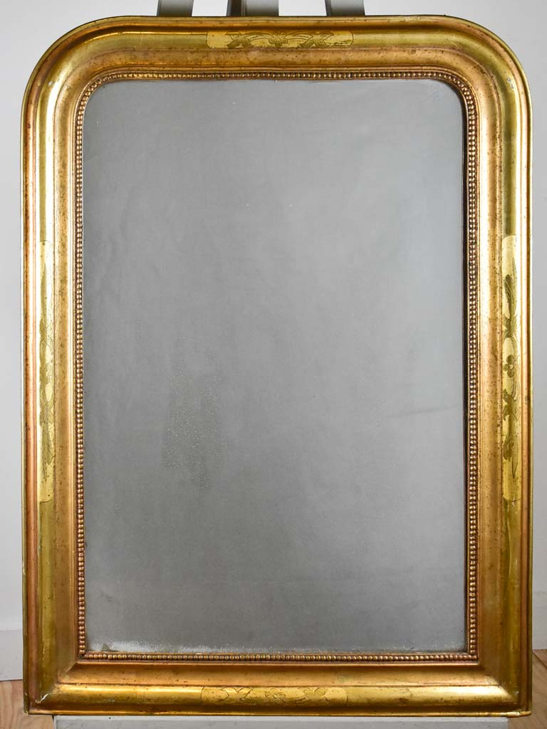 "Antique French Louis Philippe mirror with gilt frame and mercury glass 25¼"" x 35"""