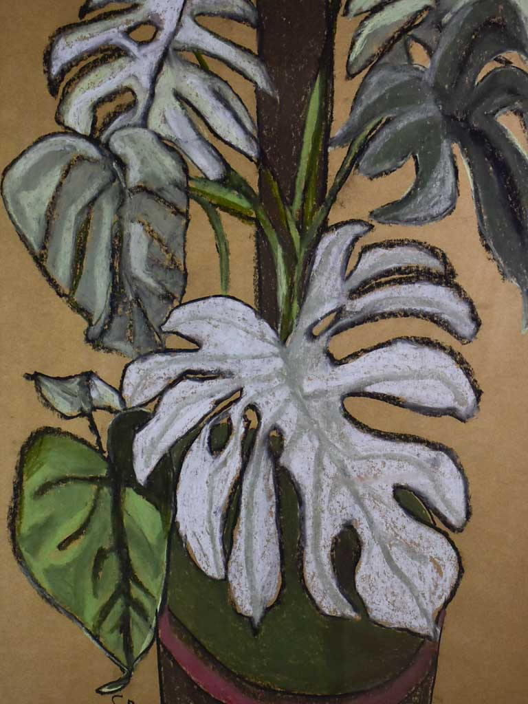 "Monstera by Caroline Beauzon - green 34¼"" x 24½"""