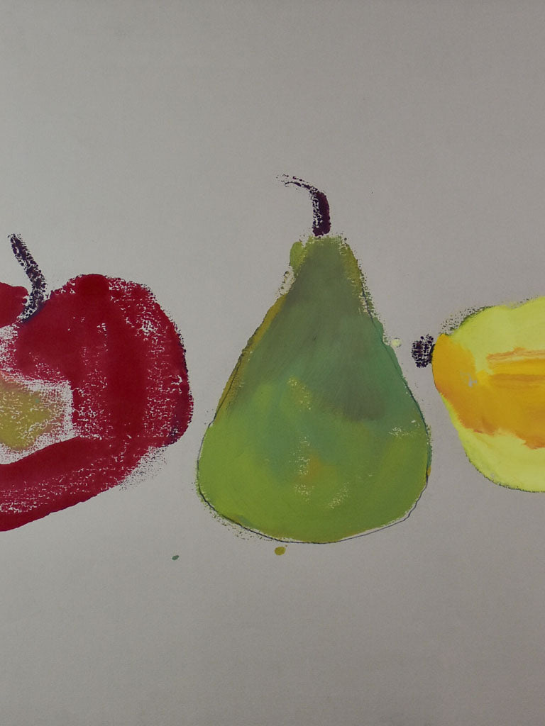 "Pomme, poire, citron"" by Caroline Beauzon 1 of 2 26½"" x 20½"""""