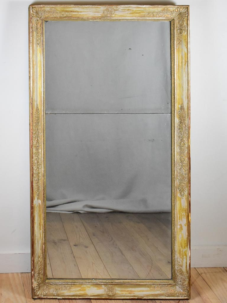 Large early nineteenth century Restoration mirror with two panes