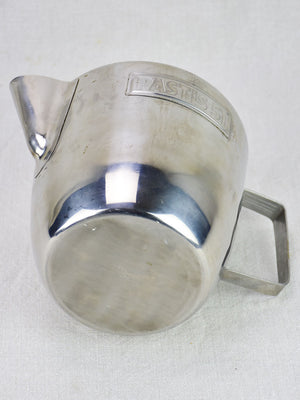 1960's Pastis 51 water pitcher - stainless steel