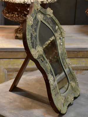 Antique Venetian mirror with stand