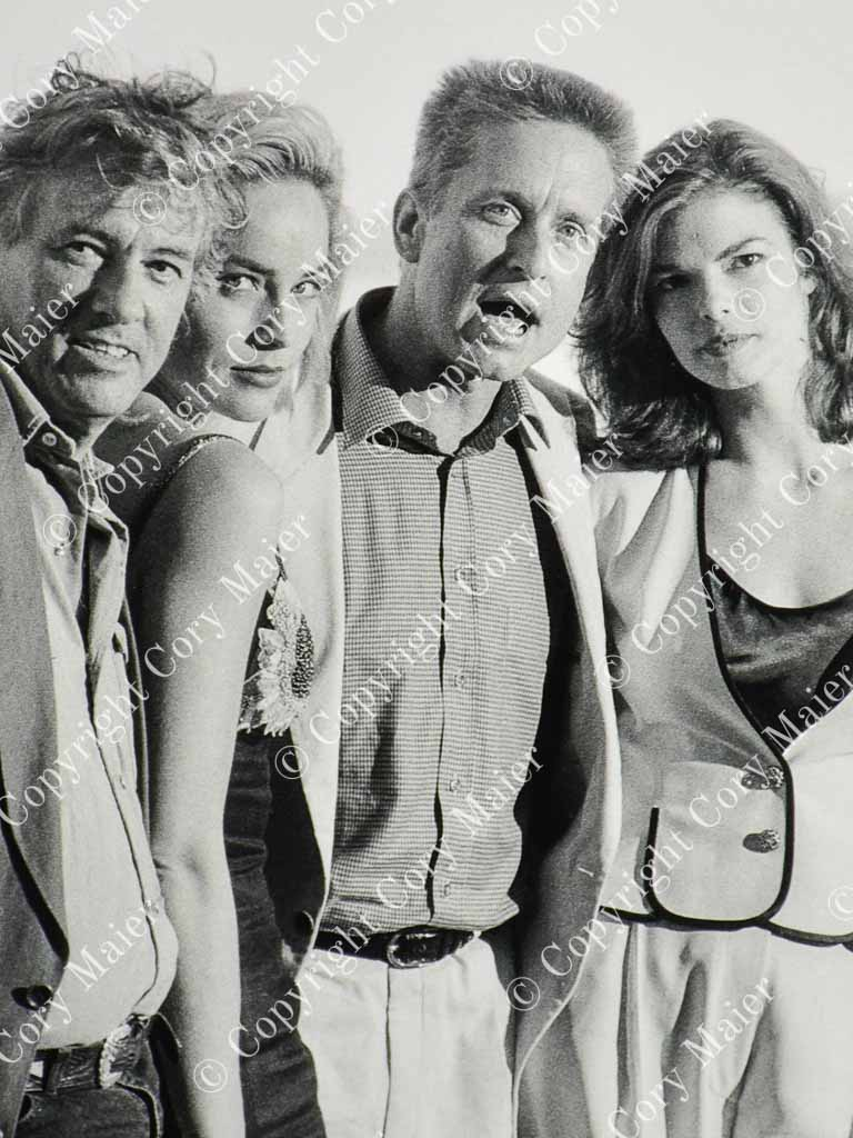 Paul Verhoeven, Sharon Stone, Michael Douglas, Jeanne Tripplehorn - Basic Instinct 1992