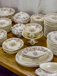 Late 19th Century dinner service. Rubans Longchamp