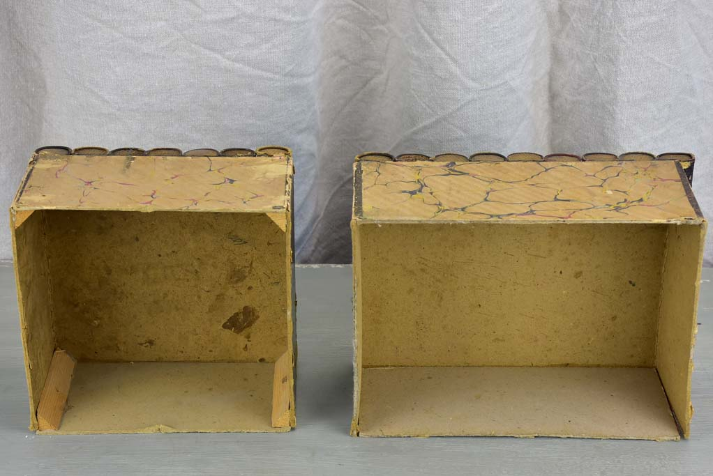 Two antique French secret storage books