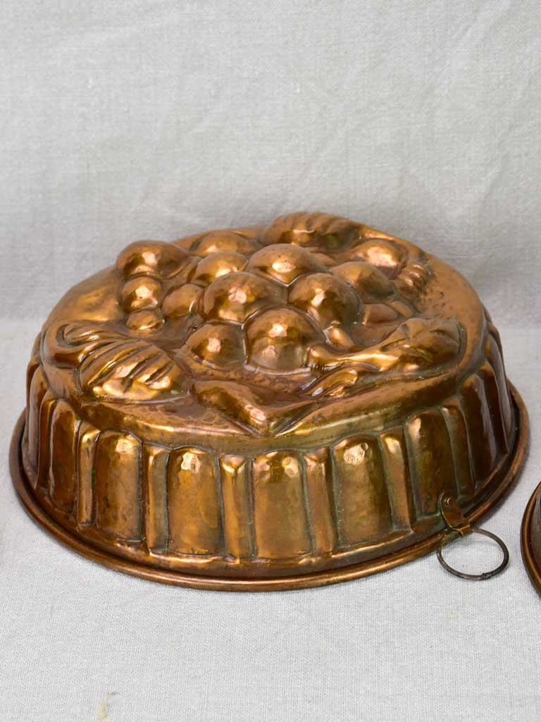 Collection of five late 18th / early 19th century copper cake molds