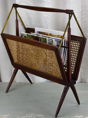 1940's French magazine stand with cane