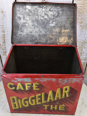 Antique Dutch coffee and tea box