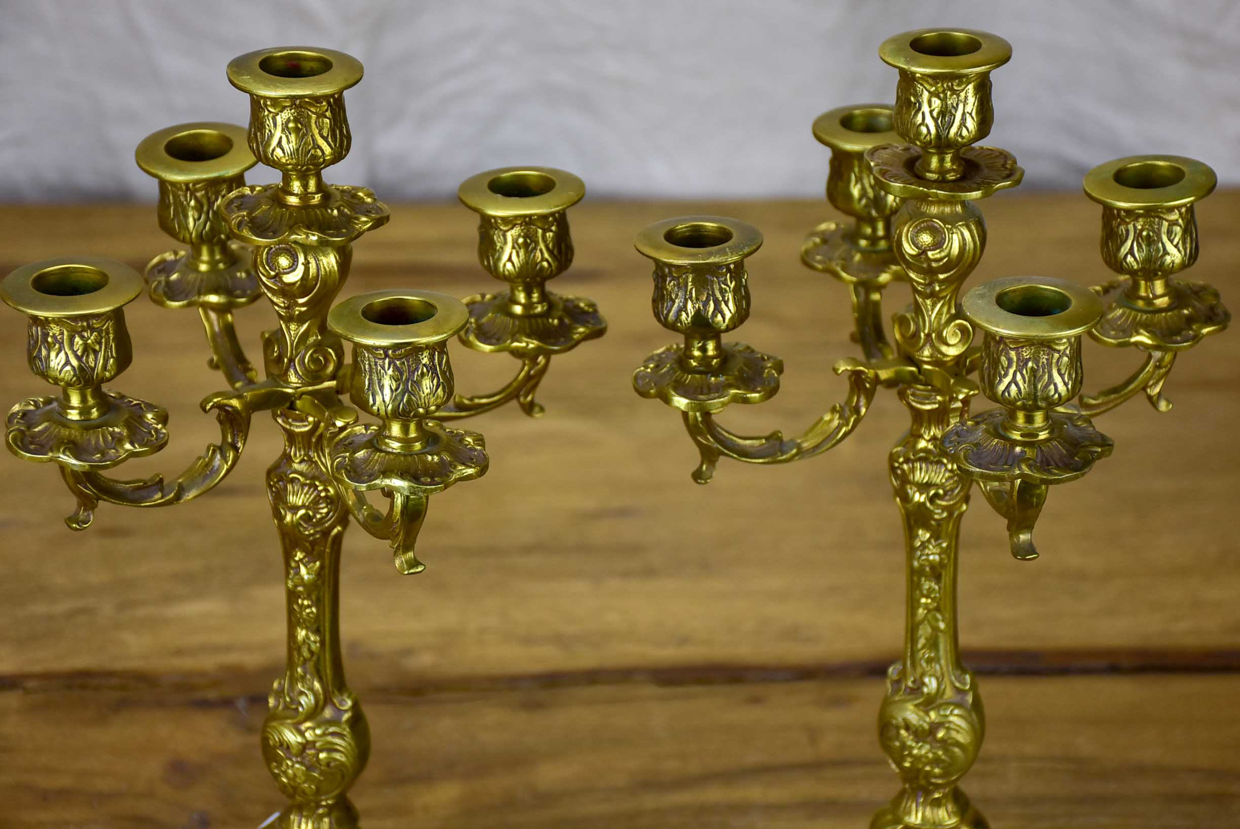 Pair of early 20th Century Belgian candlesticks