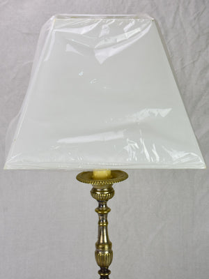 19th Century French candlestick lamp - medium 29¼""