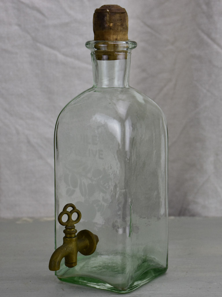 Vintage olive oil dispensing bottle