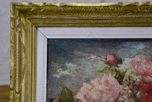 Late 19th Century French floral painting 21 ¼'' x 15 ¾''