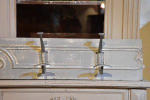 French coat rack with grey patina