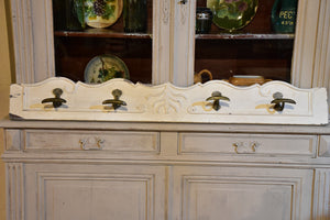 French coat rack with white patina