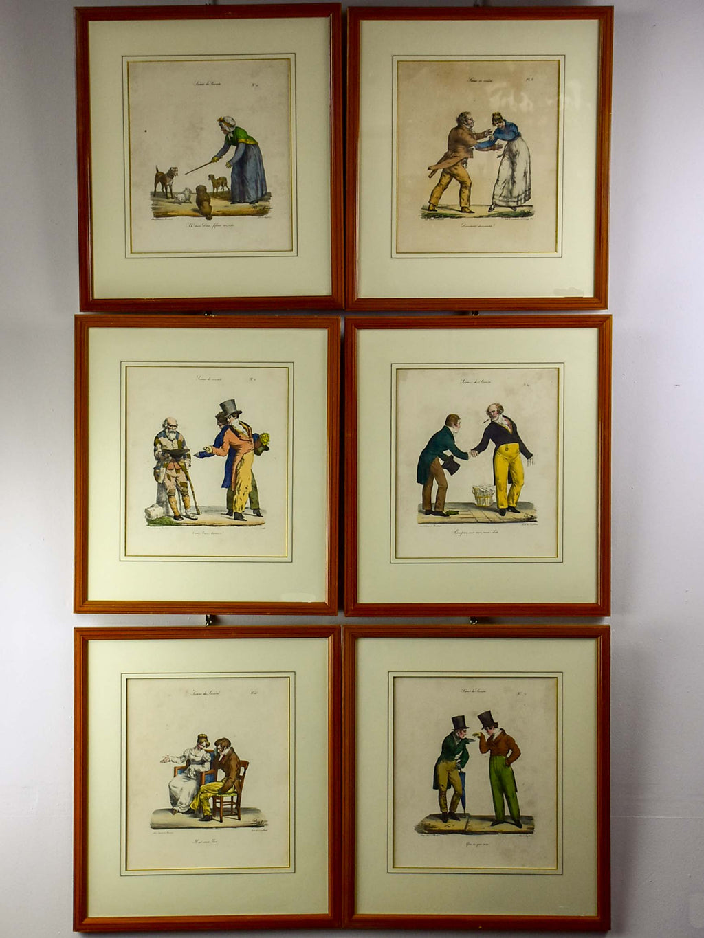 Lot of 7 satirical French lithographs - Pigal 'Scenes of Society' 16 ¼'' x 18 ¼''