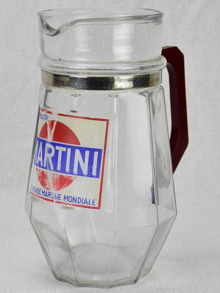 Early 20th Century Martini pitcher with Bakelite handle 8¼""