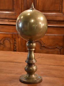 Antique bronze finial