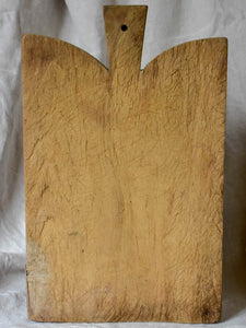 Antique French cutting board with curved peaked shoulders 16½""