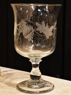 Pair of late 19th century engraved glasses