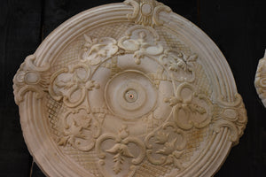 French plaster ceiling roses