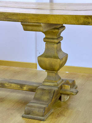 Large antique rustic French dining table