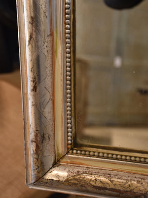 Antique French silver leaf Louis Philippe mirror