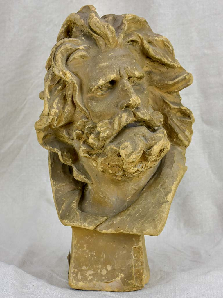 Antique sculpture of a God - signed Rude - terracotta