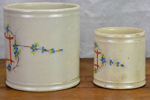 Two 19th Century French pots - salt and pepper