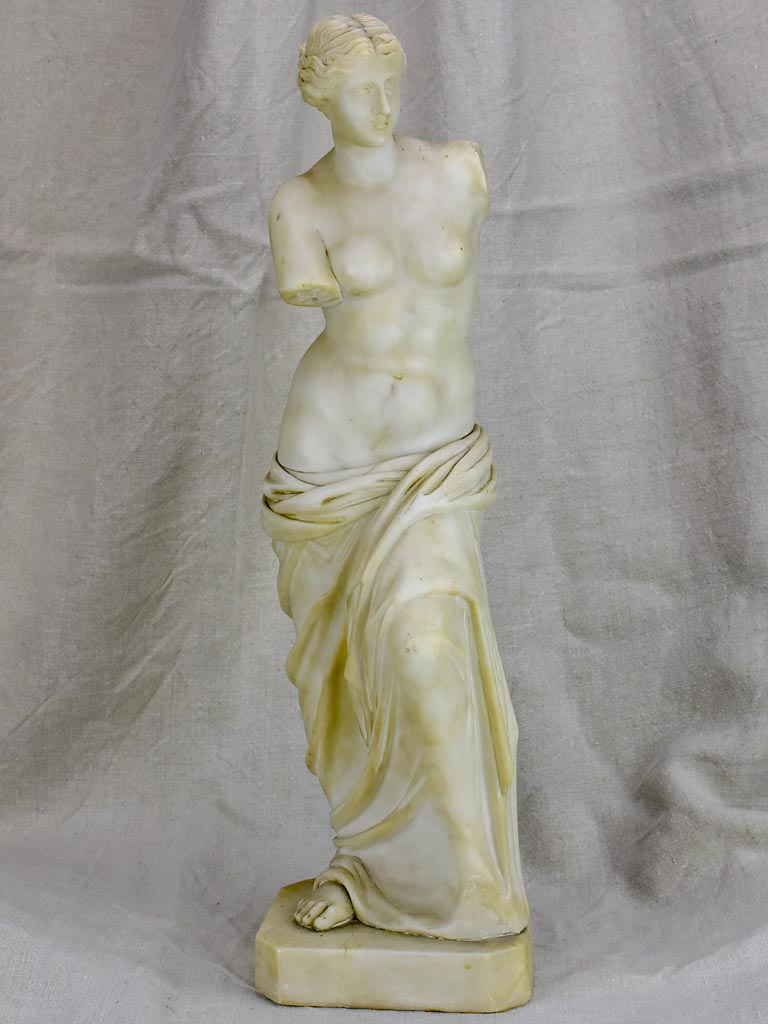 Late 19th Century marble statue of a draped woman