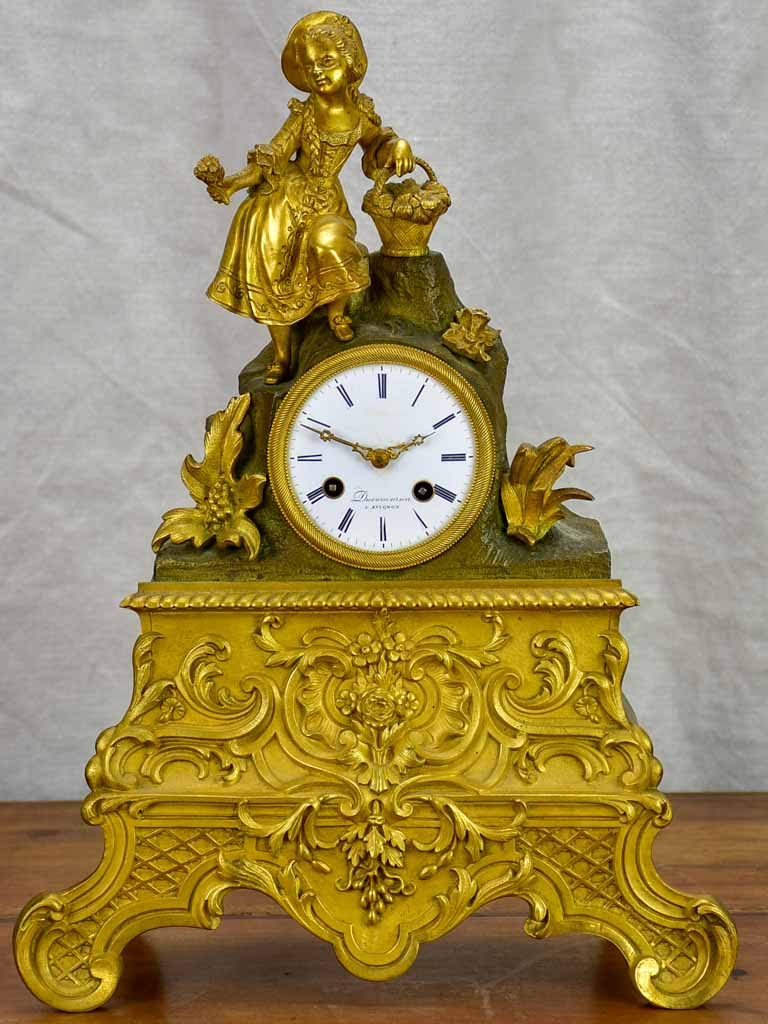 Louis XVI bronze mantle clock