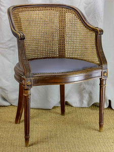 Antique Louis XVI cane desk armchair