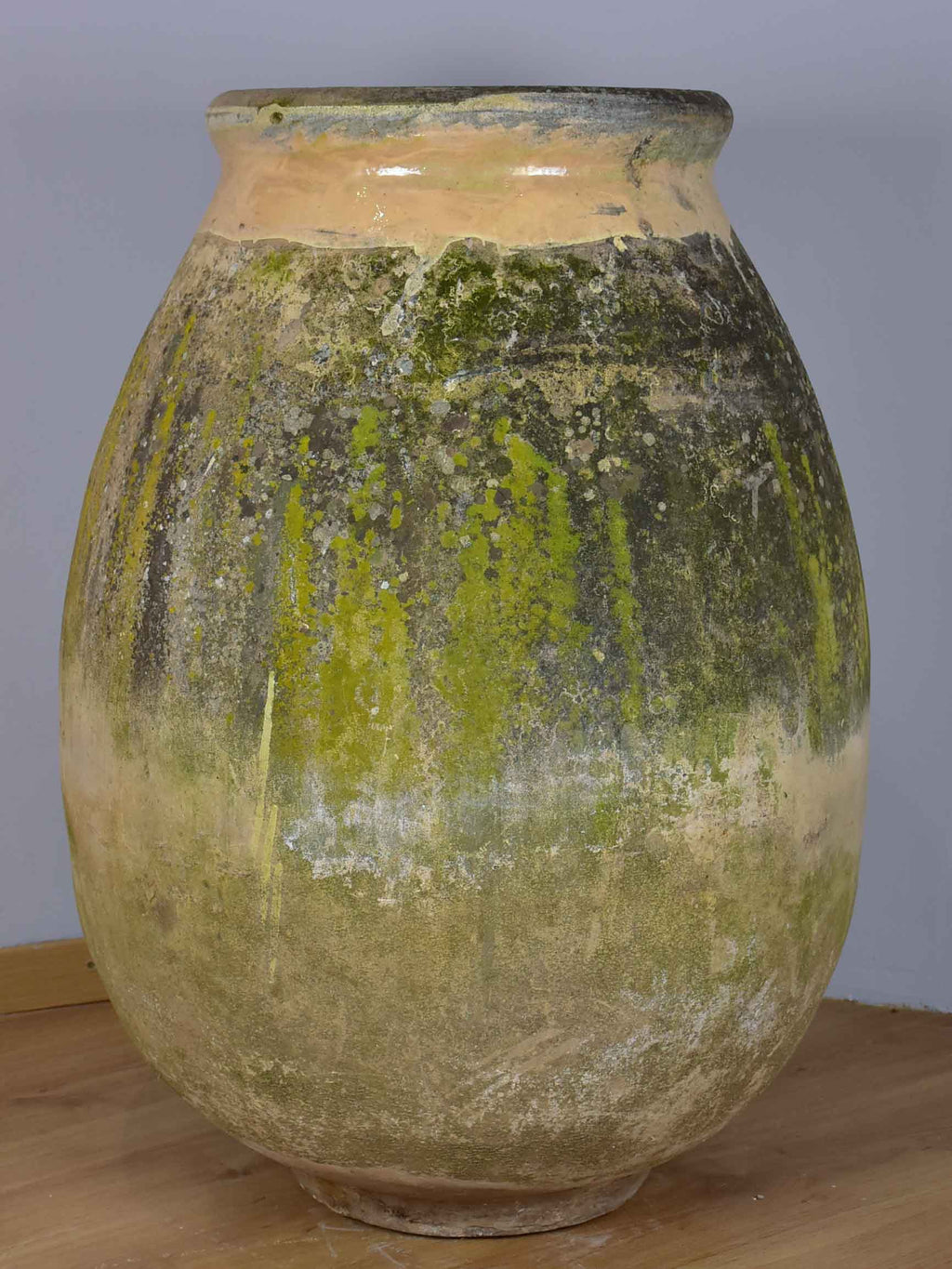 Large 19th Century French oil Biot jar