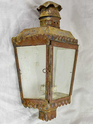 Pair of antique French wall lanterns 20""