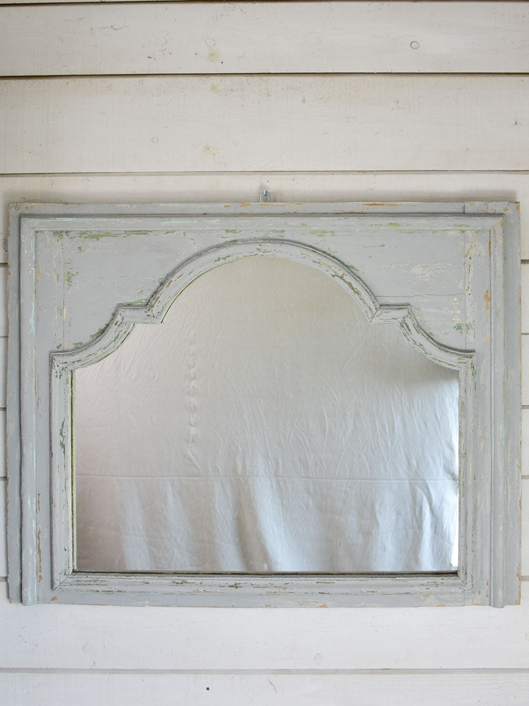 "18th Century salvaged boiserie element with mirror 48"" x 38½"""