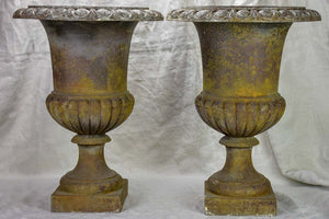Pair of 19th Century French Medici urns 20""