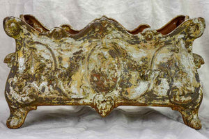 "Large cast iron French Jardiniere - 19th Century 22"" x 11"""