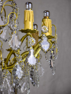 Antique French crystal chandelier - 12 lights