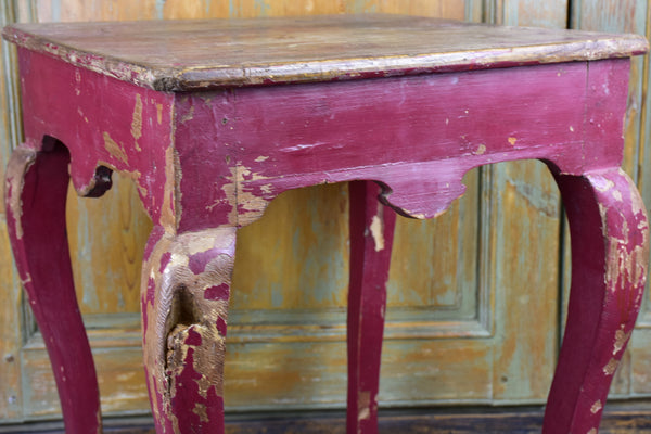 Antique Chinese side table with red patina