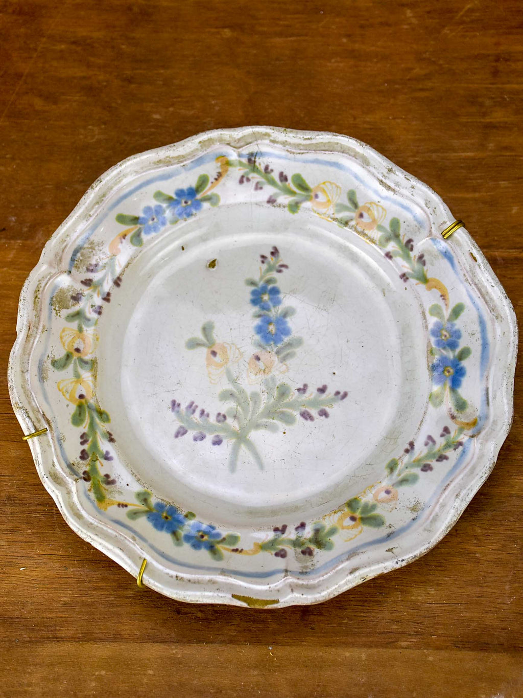 18th Century handpainted French plate