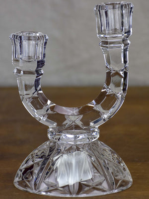 Vintage French crystal candlestick