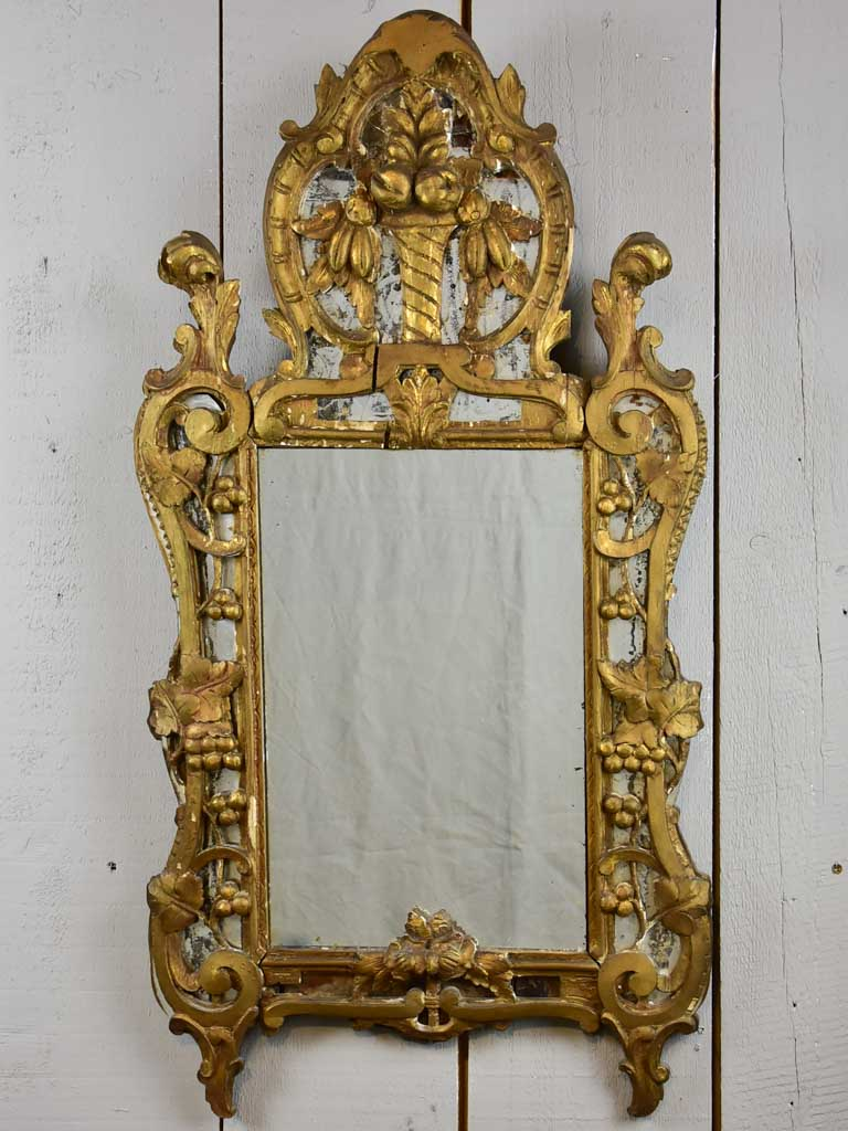 Rustic early 19th Century antique French mirror