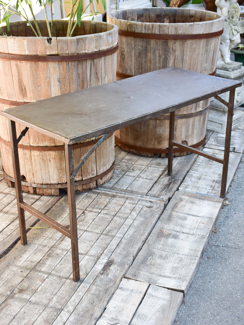 Industrial folding table from a workshop