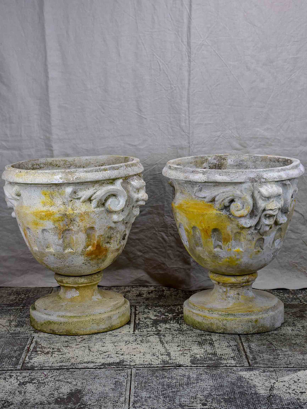 Pair of very large antique French garden urns