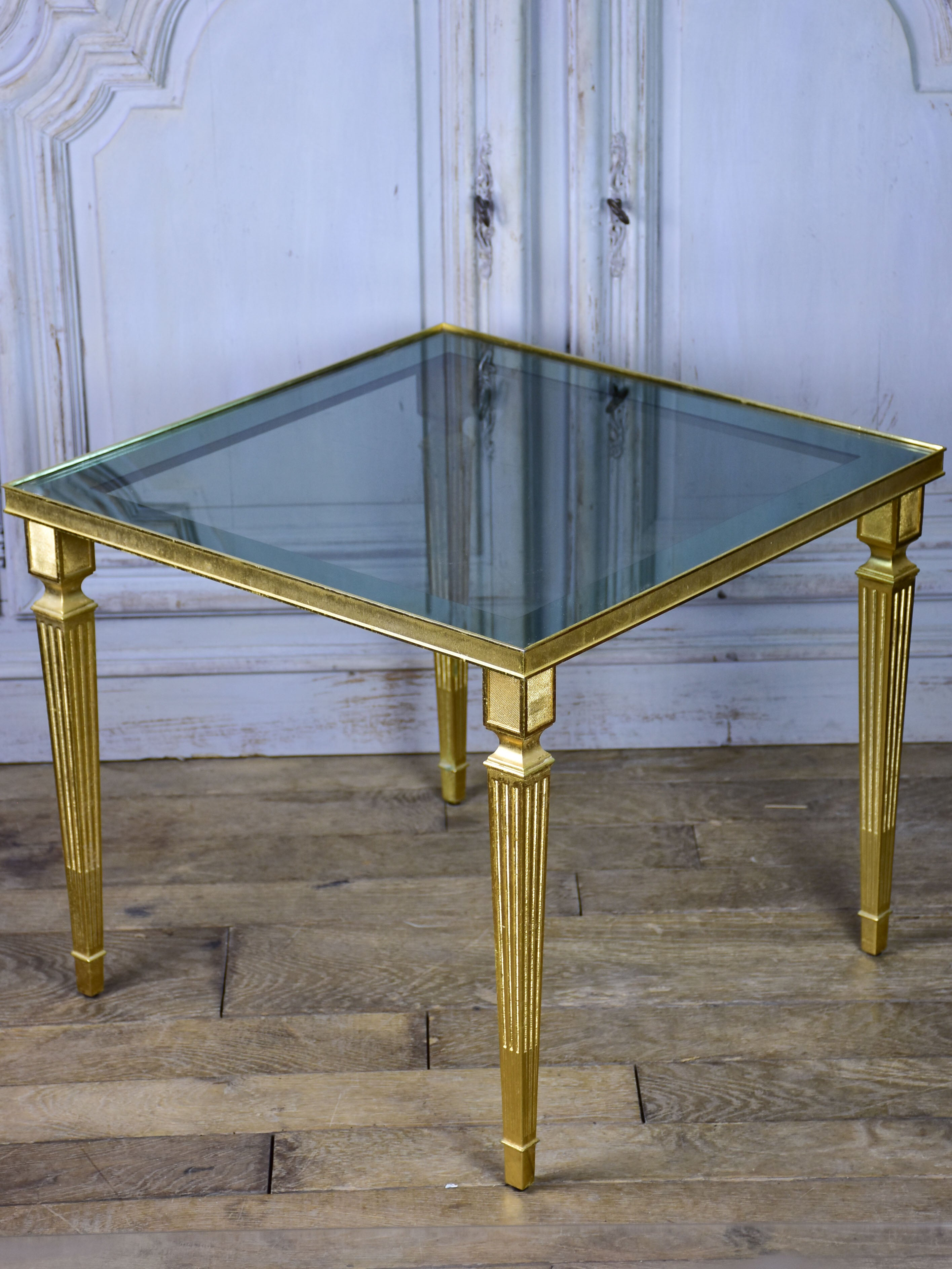 Pair of Maison Jansen square side tables