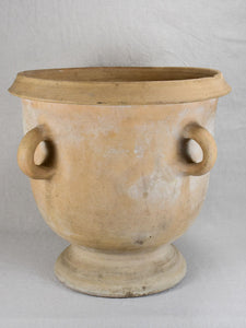 Antique French Castelnaudary terracotta planter with four handles 17¾""