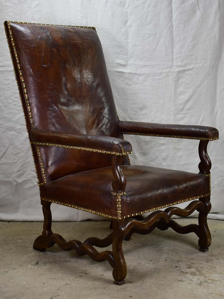 Very large Louis XIII armchair