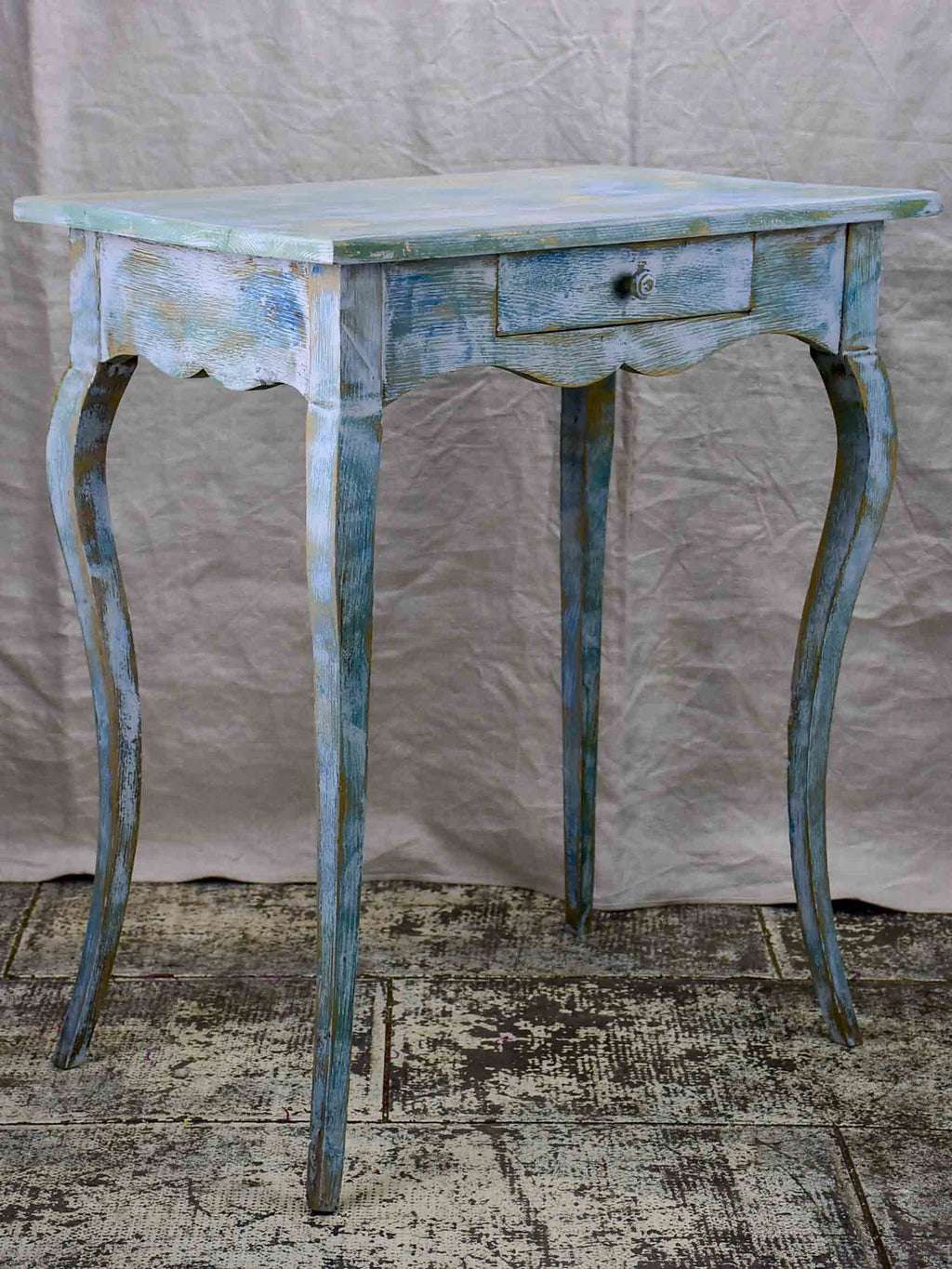 19th Century Louis XV lady's desk with blue patina