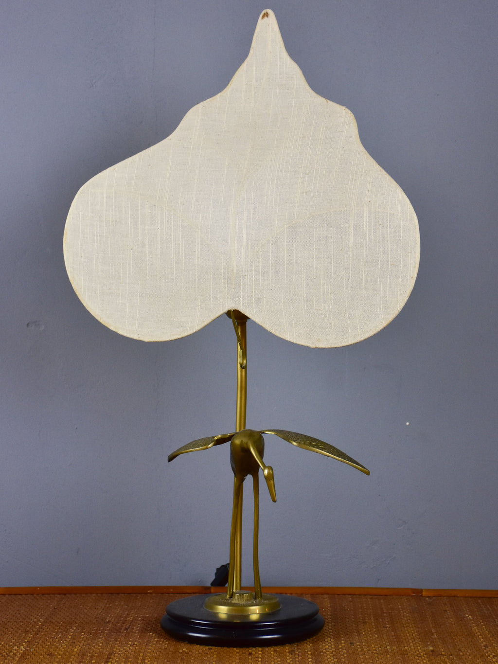 Antonio Pavia table lamp - bird and leaf